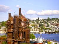 Clouds over Gasworks Park
