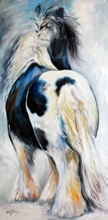 GYPSY VANNER MODERN ABSTRACT 3618 M BALDWIN ORIG O