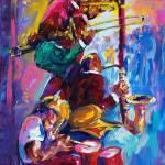 """""""Jazz in the Glow New Orleans"""" by sandrabolensamuel"""