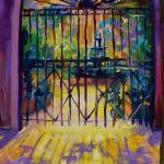 """New Orleans Sunlit Courtyard"" by sandrabolensamuel"