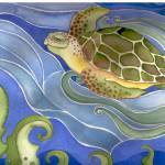 """sea turtle"" by arosawatercolor"