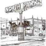 """The North Park Sign San Diego drawing by RD Riccob"" by BeaconArtWorksCorporation"