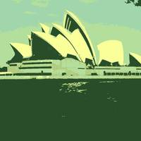 Sydney Opera House in Green...