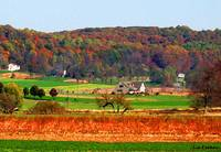 Pennsylvania Amish Farm in Autumn