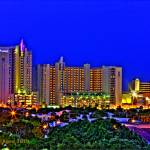 """Beach Hotels Night HDR"" by Wheels47130"