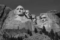 Mount Rushmore in B&W