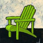 """Green Adirondack Chair"" by JanetNelson"