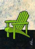 Green Adirondack Chair