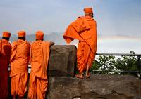 Monks at the Falls