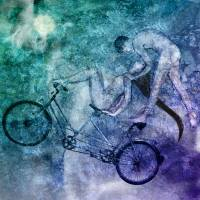 Tandem Bike Mutual Lucid Dream Art Prints & Posters by Ina Mar