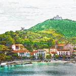 """Collioure, France. Beach View"" by Snowman"