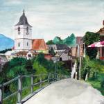 """Switzerland St. Wolfgang Watercolour"" by BeechwoodPhotography"