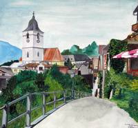 Switzerland St. Wolfgang Watercolour