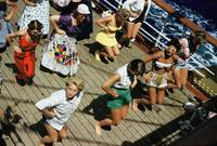 vintage cruise deck dance