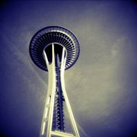 Space Needle in Indigo