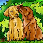 """""""Puppy Love"""" by artinthegarage"""