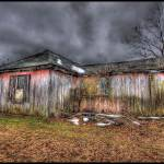 """Little Red Weathered Shack"" by JosephSparks"