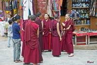 A gathering of Tibetan monks