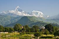 Annapurna Range of the Himalayas, Pokhara, Nepal