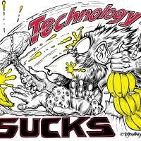 Technology Sucks! Art Prints & Posters by Jim Cabay