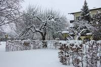 Grassau Germany Lodge Covered in Snow