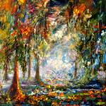 """""""Okefenokee Fog Oil Landscape by Ginette Callaway"""" by GinetteCallaway"""