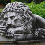 """resting lion statue"" by polysynaptic"