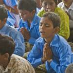 """Morning prayers, school assembly, Rajasthan, India"" by ChristopherByrd"
