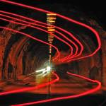 """Ghostly Taillights Through The Tunnel"" by kenlee"