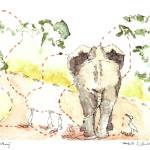 """Elephant Walking"" by idillard"