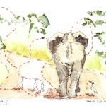 """Elephant Walking"" by idillard"