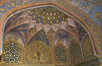 Decorative ceiling and wall fresco - Akbar's mauso