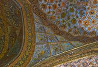 Decorative ceiling fresco - Akbar's mausoleum vest