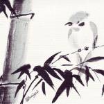 """bamboo_n_bird_1"" by gbensonart"