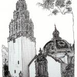 """Balboa Park California Tower Museum By Riccoboni"" by BeaconArtWorksCorporation"