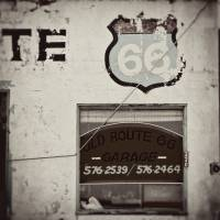 Old Route 66 Garage Art Prints & Posters by Andie Smith