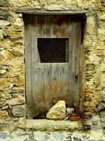 Old Door with Stones