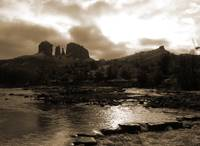 Cathedral Rock Winter - Sepia