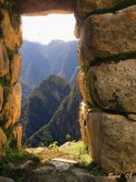 Window on another world - Machu Picchu