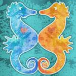 """Seahorses in Love"" by maryostudio"