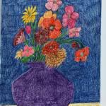 """""""Flowers on Blue"""" by jmeraz"""
