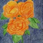 """Orange on Blue"" by jmeraz"