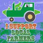 """I Support Local Farmers"" by maryostudio"