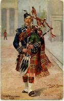 Scots Guards Piper (Raphael Tuck Postcard)