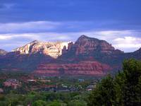 Sedona Mountains Towards the South in Monsoon Skie