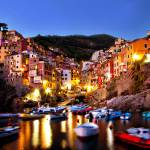 """Riomaggiore Night"" by paulwnashphotography"