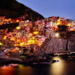 """Manarola at Dusk"" by paulwnashphotography"
