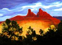 Spotlight on Sedona Mountains
