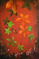 Autumn Leaves - Left Canvas