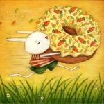 """Carrot Donut Thief"" by angelato"
